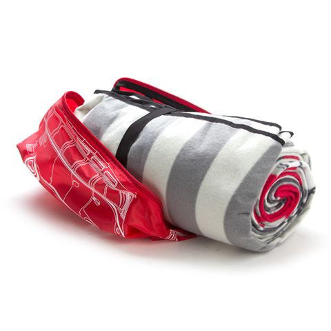 Volkswagen T1 Picnic Rug with Carrying Bag-Red