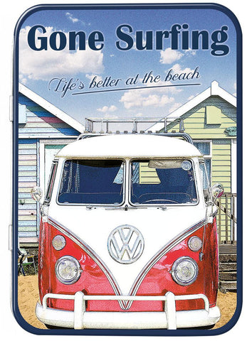 VW Gone Surfing Keepsake Tin - Cool VW Stuff  - 1