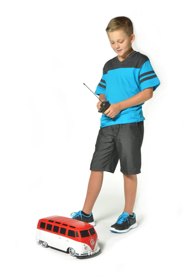Large Volkswagen Van Samba Remote Control Vehicle - Red & White - Cool VW Stuff  - 4