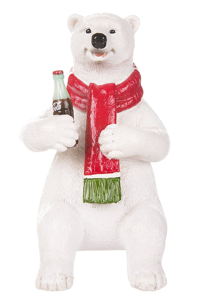 Coca Cola Sitting Polar Bear Figurine - Cool VW Stuff  - 1