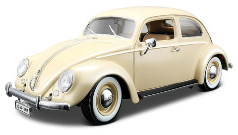 1955 Volkswagen Beetle Diecast Model Car - Beige - Cool VW Stuff  - 1