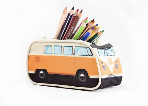 Volkswagen Bus Pencil Case - Orange - Cool VW Stuff  - 1