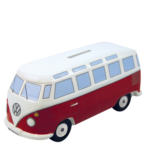 VW Bus Money Bank-Classic Red