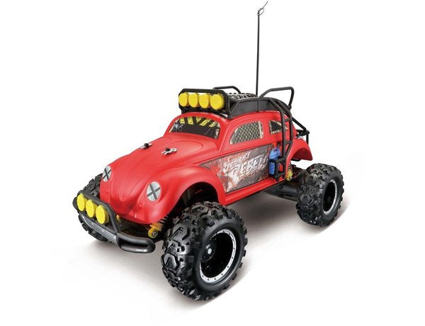 Maisto Desert Rebel Volkswagen Beetle Radio Control Vehicle - 1:10 Scale - Red