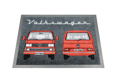 VW T3 Bus Doormat Front and Back - Red by VW Collection T3DM01