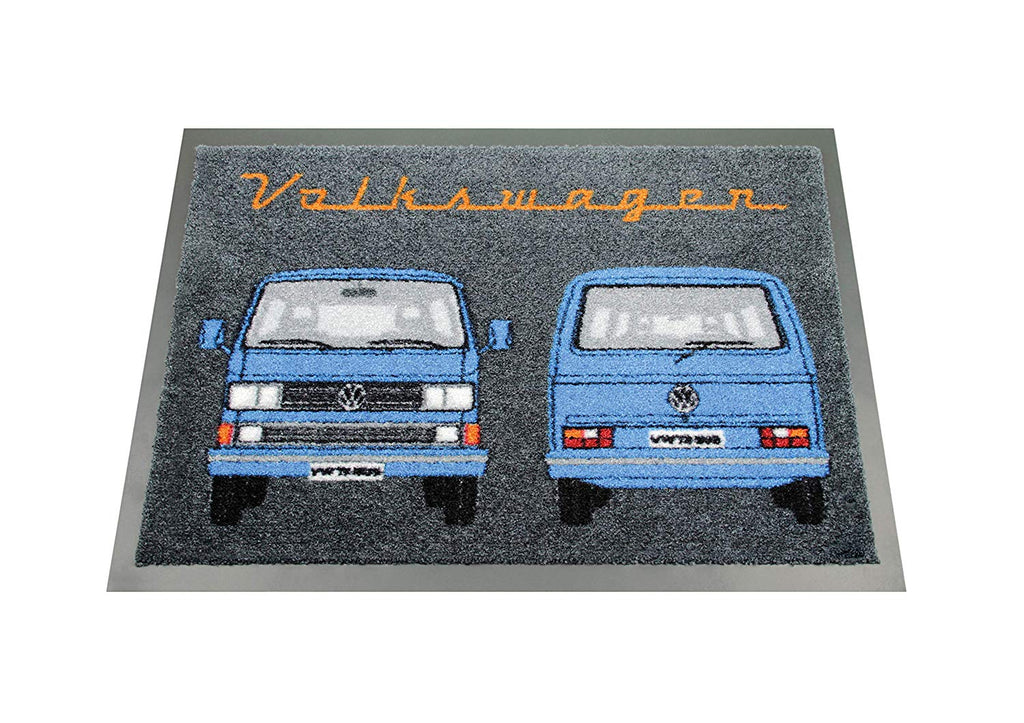VW T3 Bus Doormat Front and Back - Blue by VW Collection T3DM02
