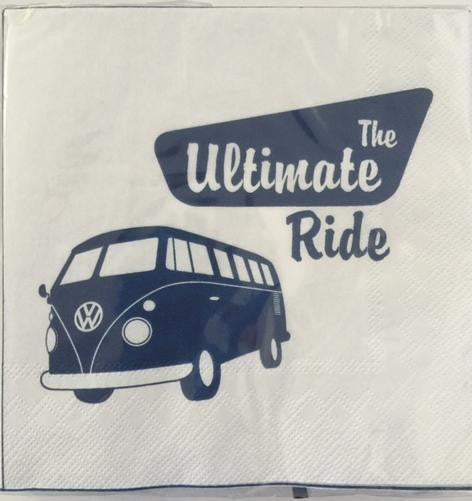 VW Bus Napkin Set Pack of 20-The Ultimate Ride - Cool VW Stuff  - 1