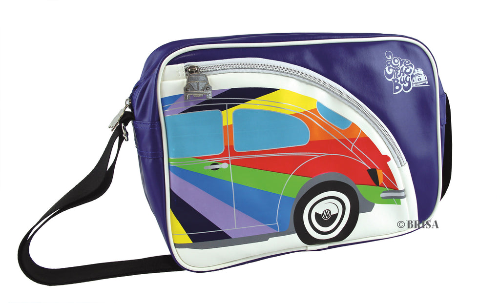 VW Retro Love That Bug Striped Beetle Shoulder Bag