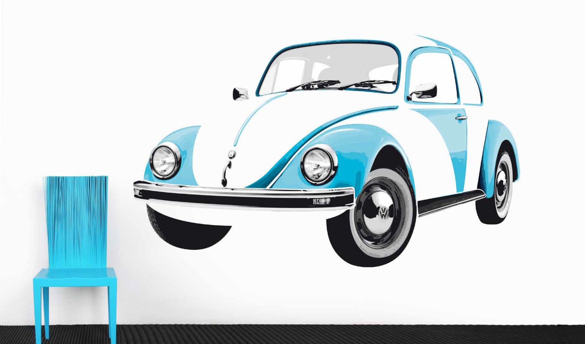 Vw collection wall decal blue beetle bewt01 brisa cool vw stuff