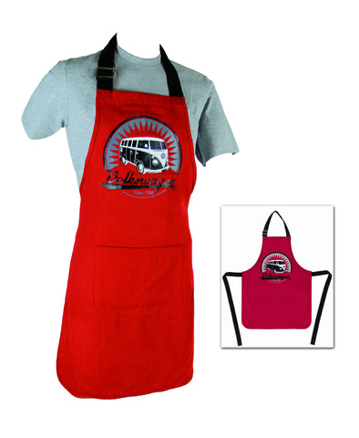 All Purpose VW T1 Bus Apron - Red - Cool VW Stuff  - 1