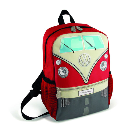 VW T1 Bus Backpack Small - Red - Cool VW Stuff  - 1
