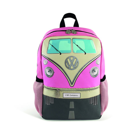 VW T1 Bus Backpack Small - Pink - Cool VW Stuff  - 1
