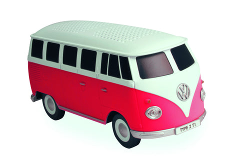 Bluetooth USB Volkswagen Type 2 Red Camper Speaker