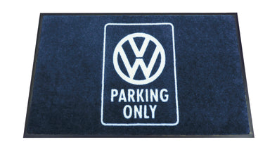 VW T1 Bus Doormat - Parking Only Blue