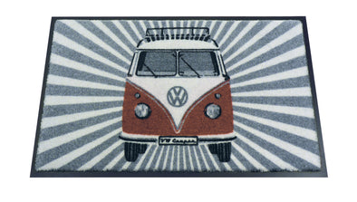 VW T1 Bus Doormat - Samba Stripes Red