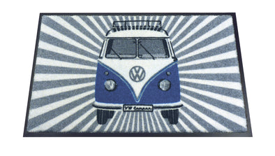 Volkswagen T1 Bus Doormat - Samba Stripes Blue by VW Collection BUDM12