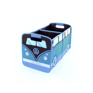 VW T1 Bus Foldable Storage Box -Brown & Petrol