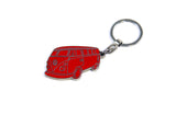 VW T1 Bus Enamel Key Ring - Red