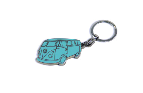 VW T1 Bus Enamel Key Ring - Turquoise