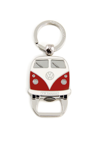 VW T1 Bus Key Ring with Bottle Opener - Red Cool VW Stuff BUKH41