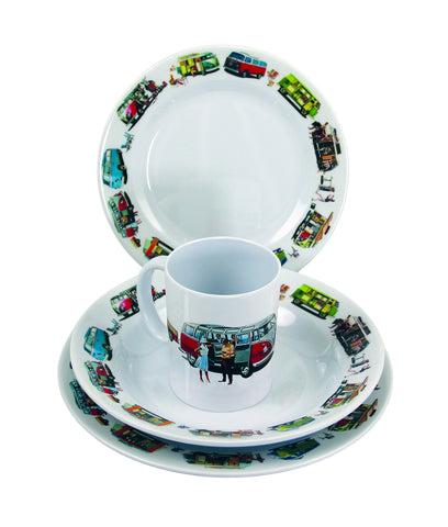 VW Melamine Tabelware 8 Piece Gift Set - Cool VW Stuff  - 1