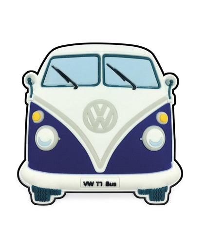 VW T1 Bus Magnet - Front End Blue