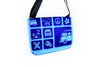 Neoprene Blue Messenger Bag