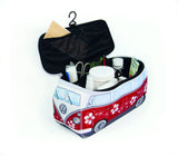 Volkswagen Bus Neoprene Toiletry/Lunch Bag-Large Hibiscus Red