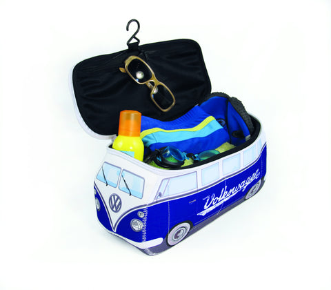 Volkswagen Bus Neoprene Toiletry/Lunch Bag-Large Classic Blue