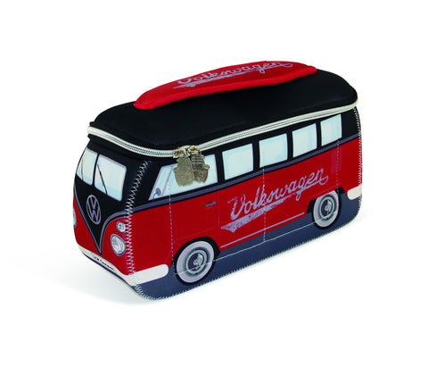 Volkswagen Bus Neoprene Universal Bag-Large Red & Black