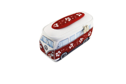 Volkswagen Bus Neoprene Universal Bag-Small Red Hibiscus