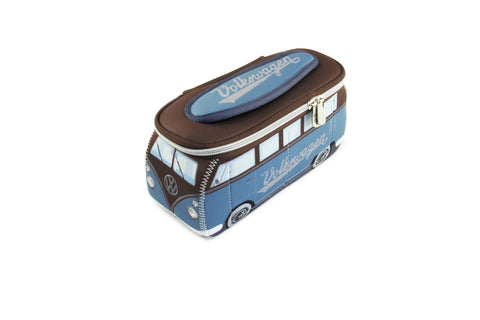 Volkswagen Bus Neoprene Universal Bag-Small Brown & Blue