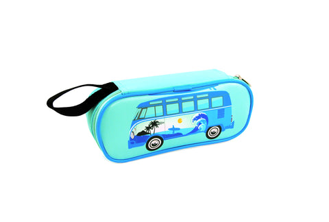 Pencil & Cosmetic Case-Surf Bus