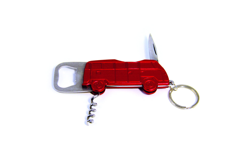 Red Bus Key Ring Bottle Opener - Cool VW Stuff  - 1