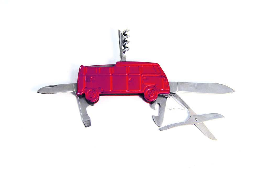 VW T1 3-D Pocket Knife in Gift Tin - Red - Cool VW Stuff  - 1