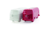 VW T1 Bus Salt and Pepper Shaker Set - White & Red - Cool VW Stuff  - 1