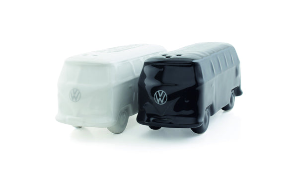 VW T1 Bus Salt and Pepper Shaker Sets - White & Black - Cool VW Stuff  - 1