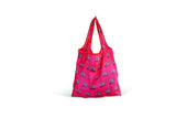 VW Bus Foldable Polyester Shopper Bag - Vintage Logo Red