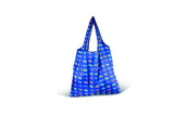 VW Bus Foldable Polyester Shopper Bag - Colored Sambas Blue
