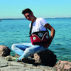 Camper Deluxe Shoulder Bag-Red & Black