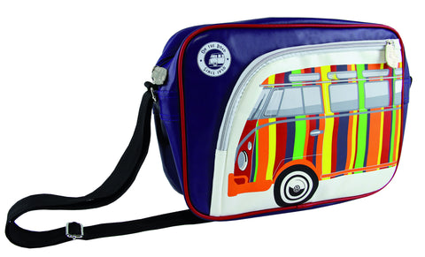 Camper Deluxe Shoulder Bag-Striped Bus
