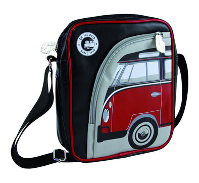 Volkswagen Camper Deluxe Cross-Body Tablet Bag-Red Bus