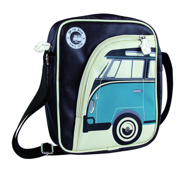 Volkswagen Camper Deluxe Cross-Body Tablet Bag-Blue Bus