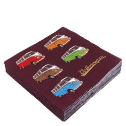 VW Bus Napkin Set Pack of 20-Split Window Busses - Cool VW Stuff  - 2
