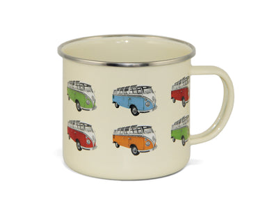 Enamel Coffee Mug-Multi Bus