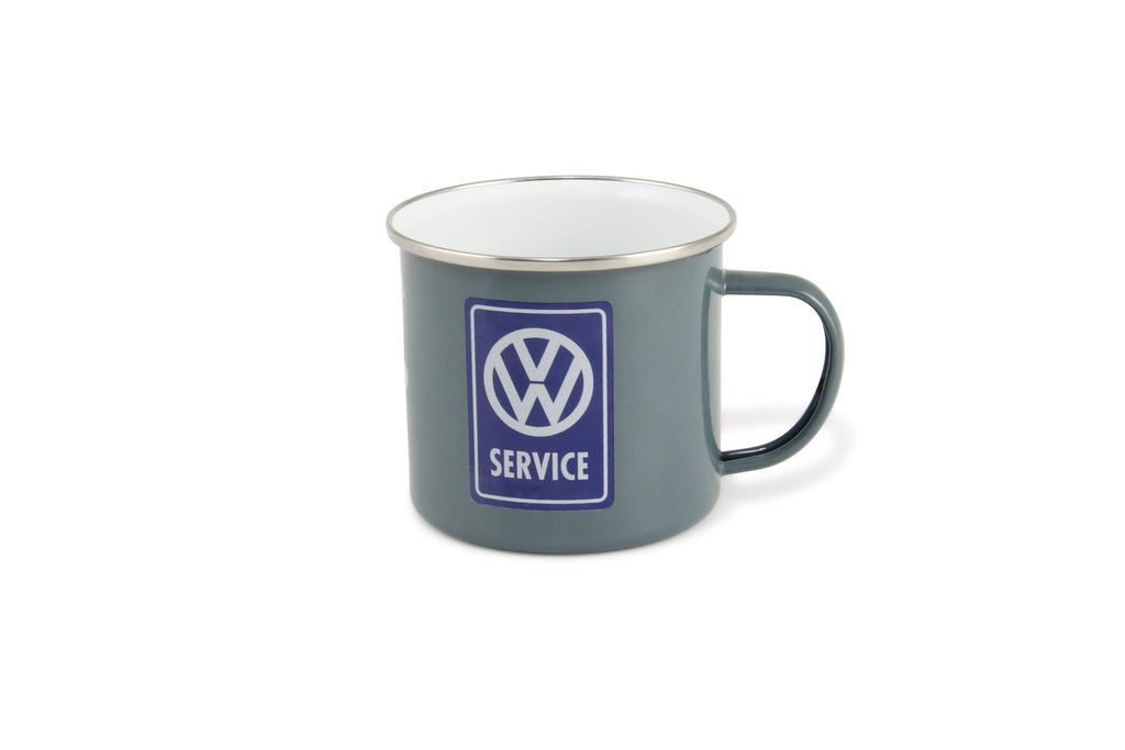VW Bus Enamel Coffee Mug - VW Service