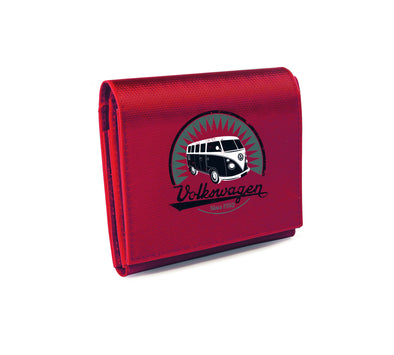VW T1 Bus Tarpaulin Wallet - Red - Cool VW Stuff  - 1