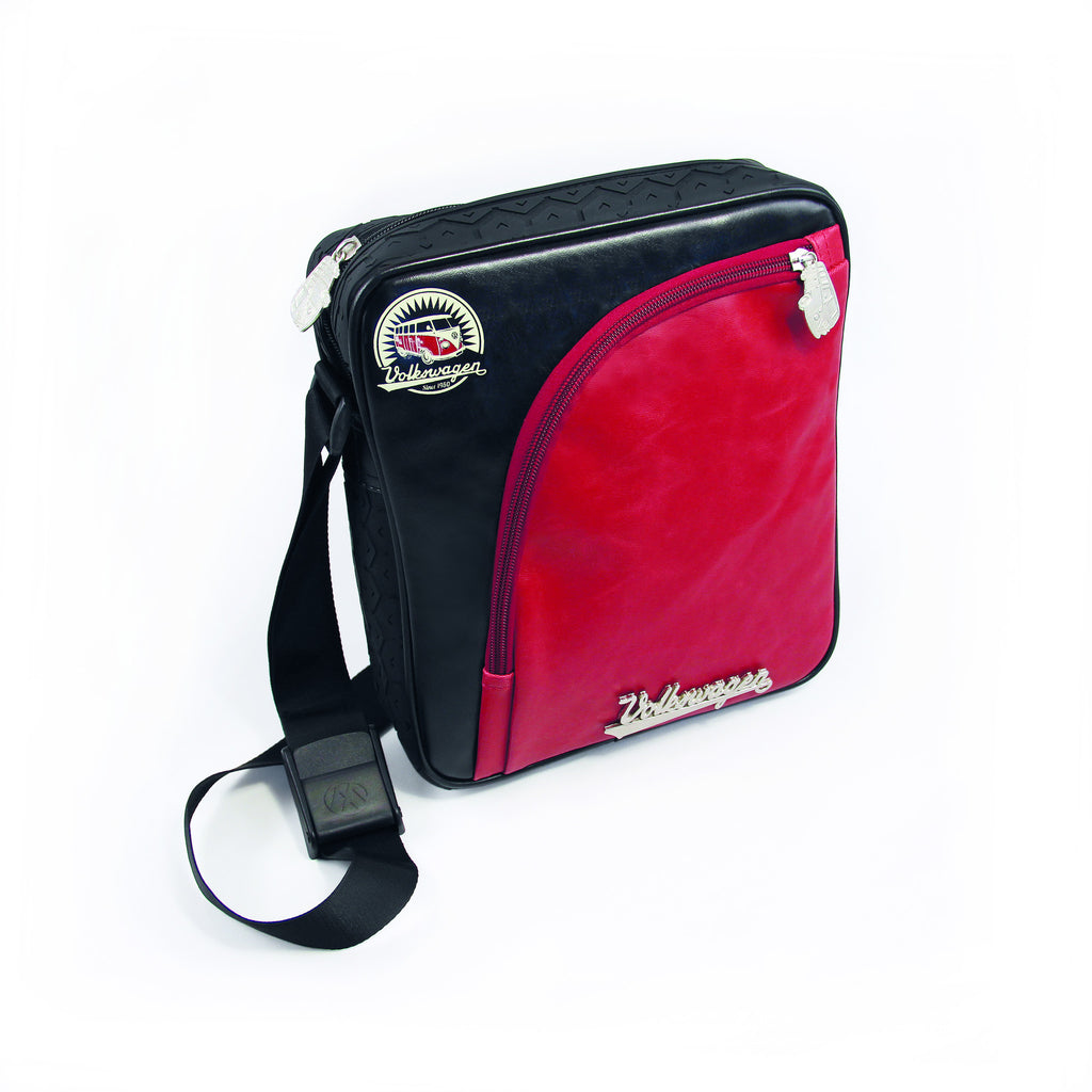 Officially Licensed Volkswagen Mini Shoulder Bag with Tire Tread Edging-Red