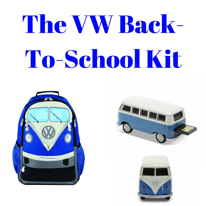 Blue Back-To-School Gift Set - Large Backpack & 8GB USB Drive