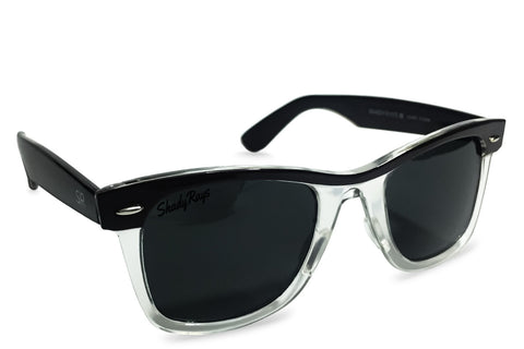 Shady Ray's Classic Clear Streaks - Jet Black Polarized Sunglasses by Cool VW Stuff